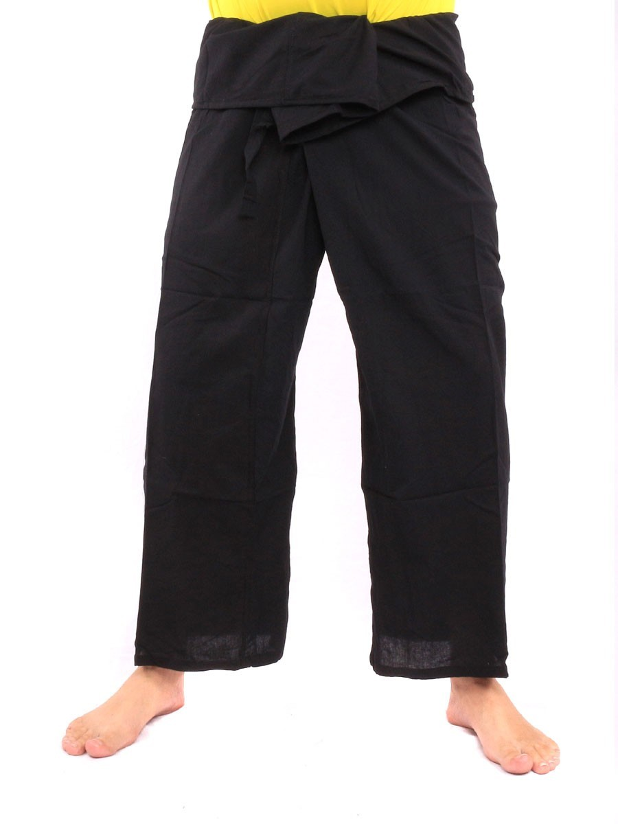 Thai Fisherman Pants Single With One Side Pocket L Black