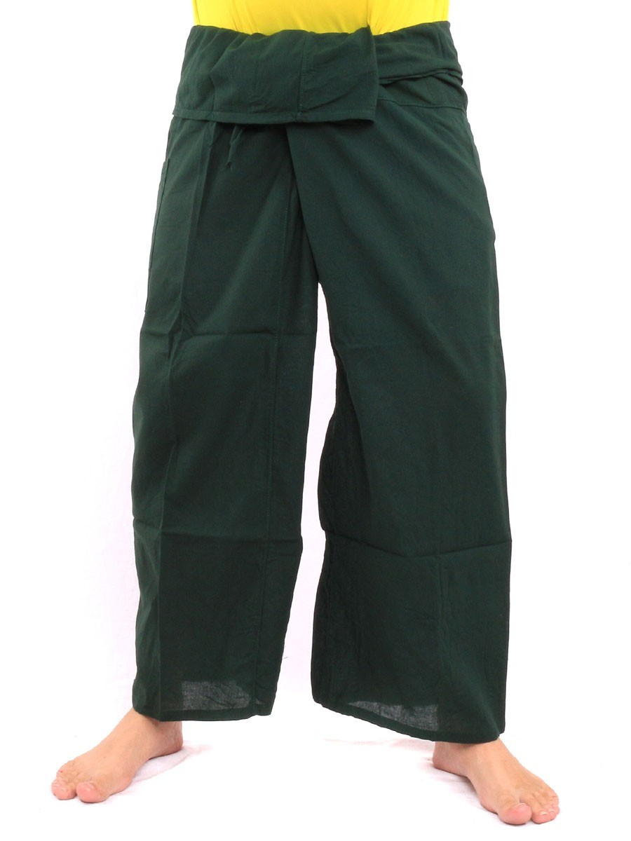Thai Fisherman Pants Single With One Side Pocket L Green