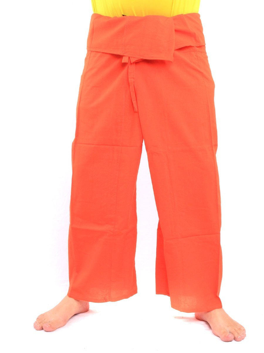 Thai Fisherman Pants Single With One Side Pocket L Orange