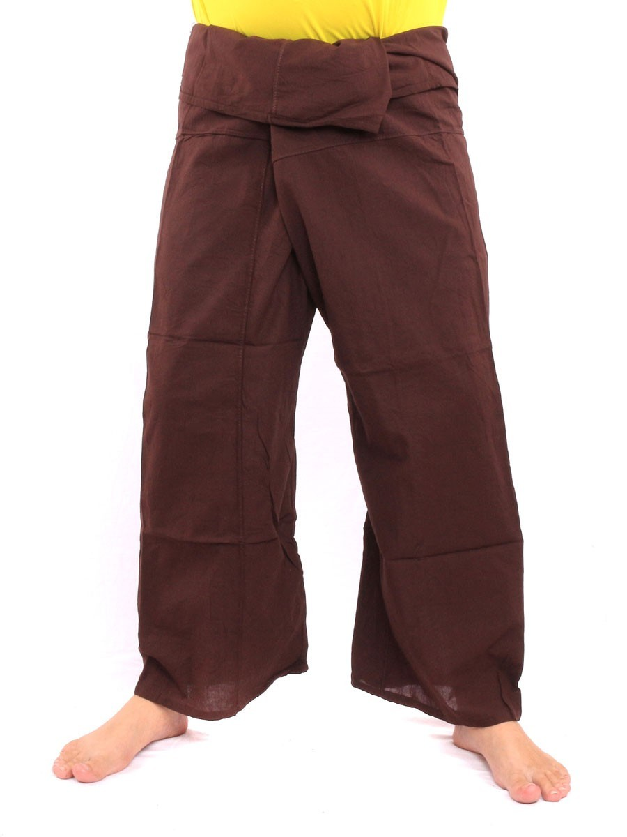 Thai Fisherman Pants Single With One Side Pocket L Brown