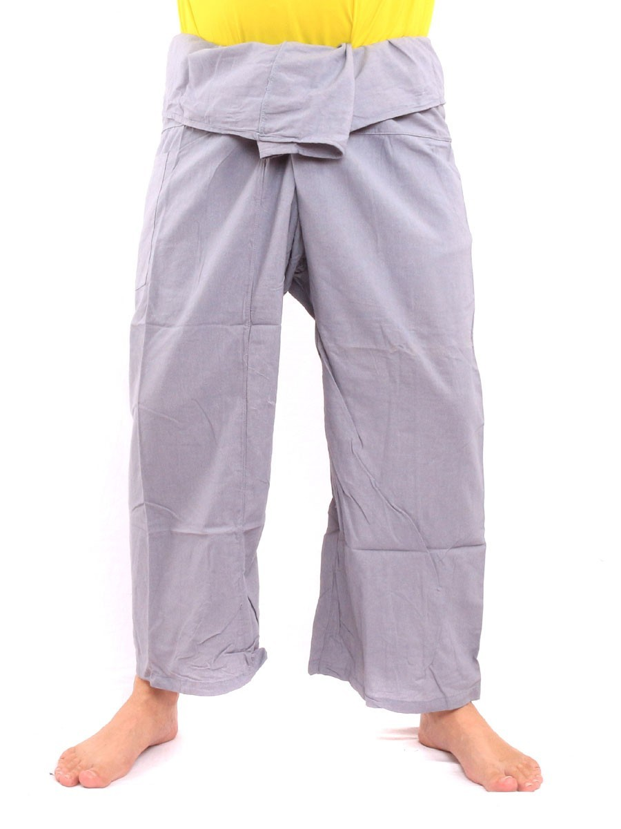 Thai Fisherman Pants Single With One Side Pocket L Grey