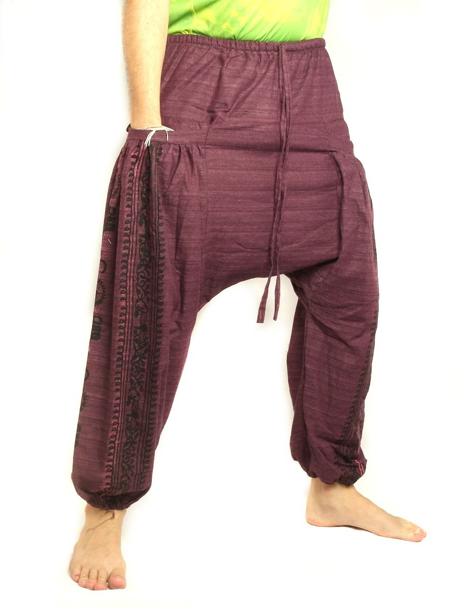 Harem baggy pants with elasticated drawcord waist and for Harem pants template